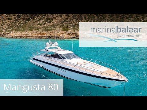 Motoryacht Mangusta 80 - Marina Balear auf Mallorca