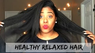 taking care of relaxed hair in the winter