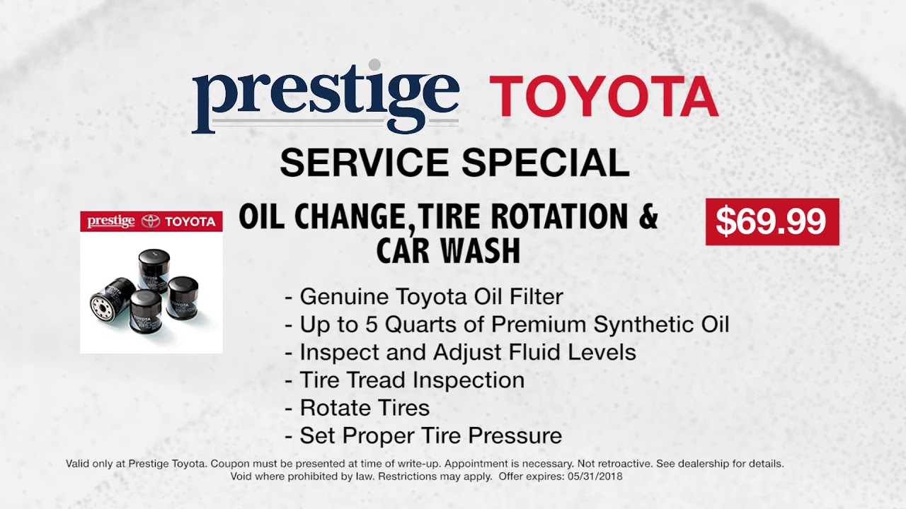 Prestige Toyota Of Ramsey Service May Oil Change Tire Rotation
