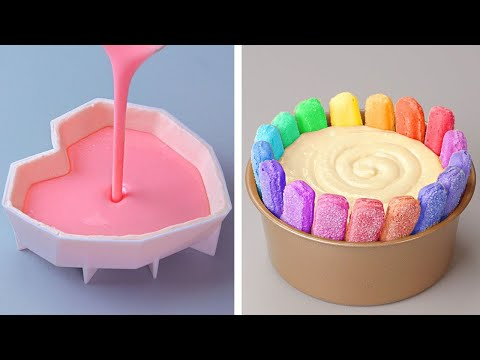 Best Tasty Colorful Cake Decorating Tutorials | Perfect Chocolate HEART Cake Decorating Ideas
