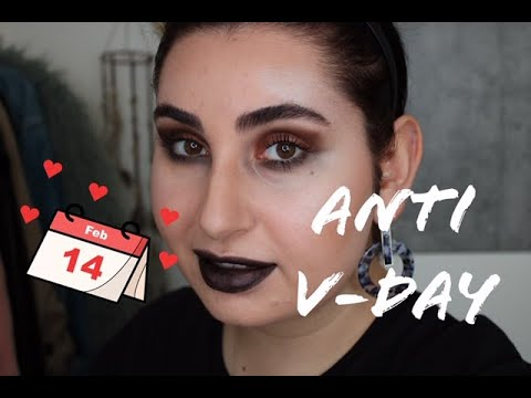 Anti Valentines Day MAKEUP Look   Full Face Tutorial   Look 4   Canan S