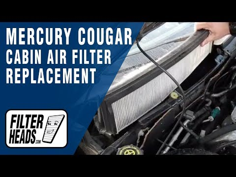 How to Replace Cabin Air Filter Mercury Cougar - YouTube