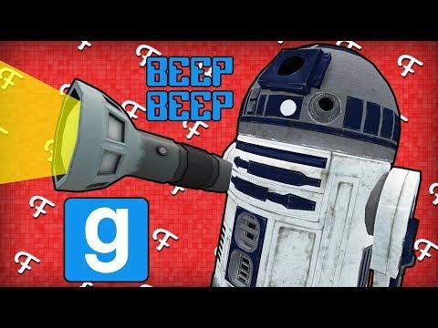 Gmod: R2D2 Seeker, Super Dark Map, Secret Closet Place! (Garry's Mod Hide and Seek - Comedy Gaming)