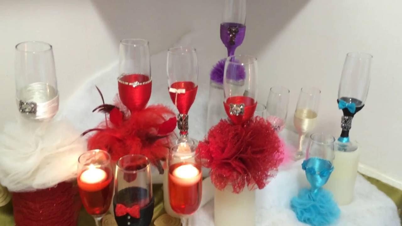 Comment d corer des verres pour mariage youtube - Comment decorer une corbeille de mariage ...