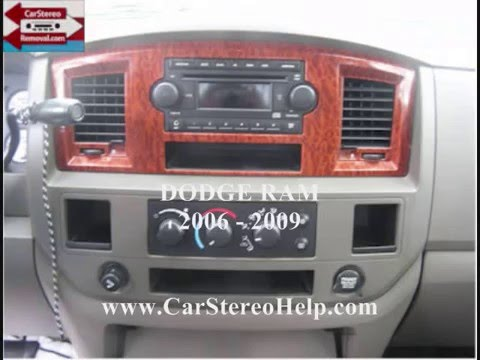 Dodge       Ram       Stereo    Removal 2006 2009  YouTube