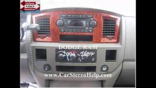 dodge ram stereo removal 2006 2009