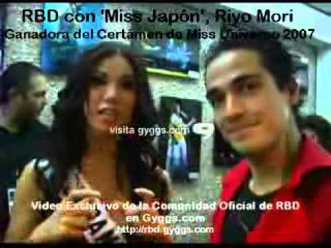 Riyo Mori with RBD in Backstage Miss Universe 2007 ( Official Riyo Mori Lovers ) HD