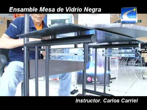 Aprenda armar su mesa de vidrio youtube for Mesa vidrio