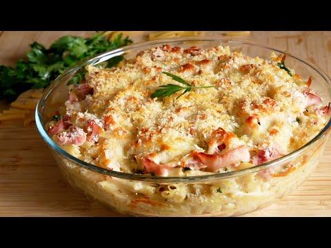 Gratin de macaronis jambon fromage 🧀