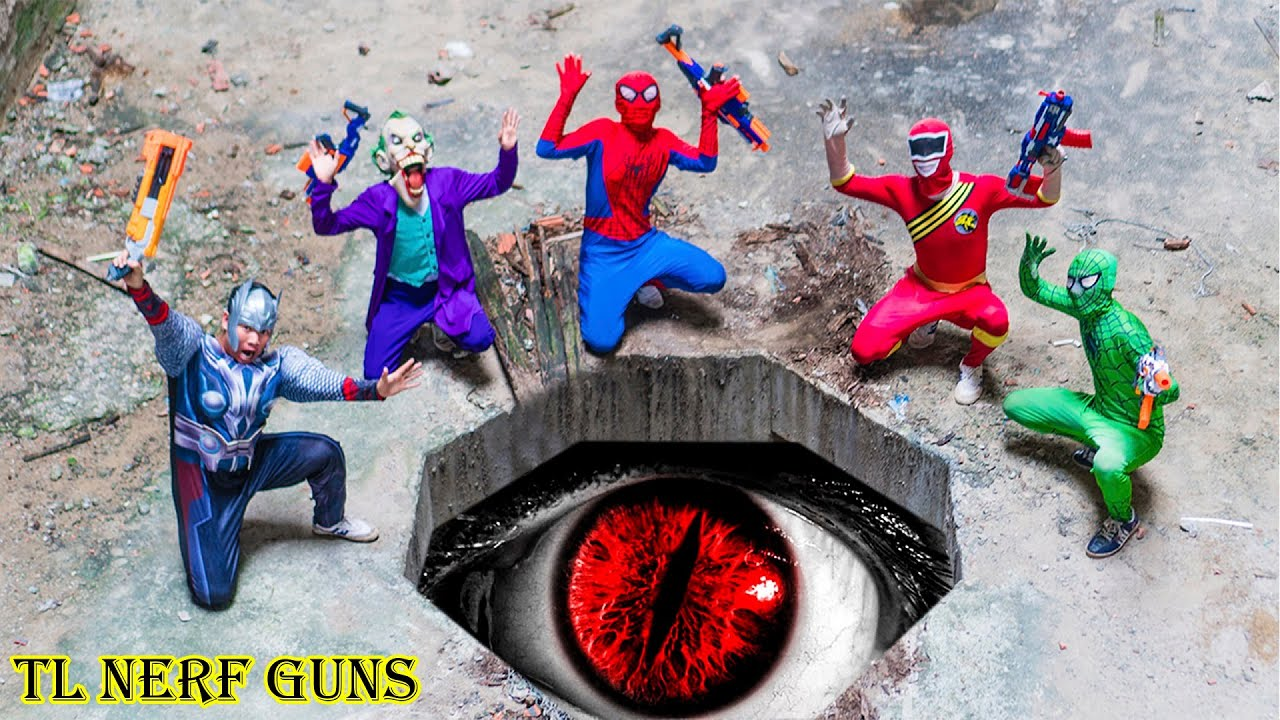 Superhero Nerf War: Captian Hulk X Warriors Nerf Guns Fight Criminal Group  Zombie Attack