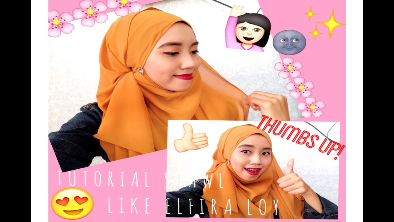 Tutorial Shawl Elfira Loy Youtube