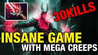 INSANE GAME WITH MEGA CREEPS - YapzOr - 30 KILLS - Dota 2