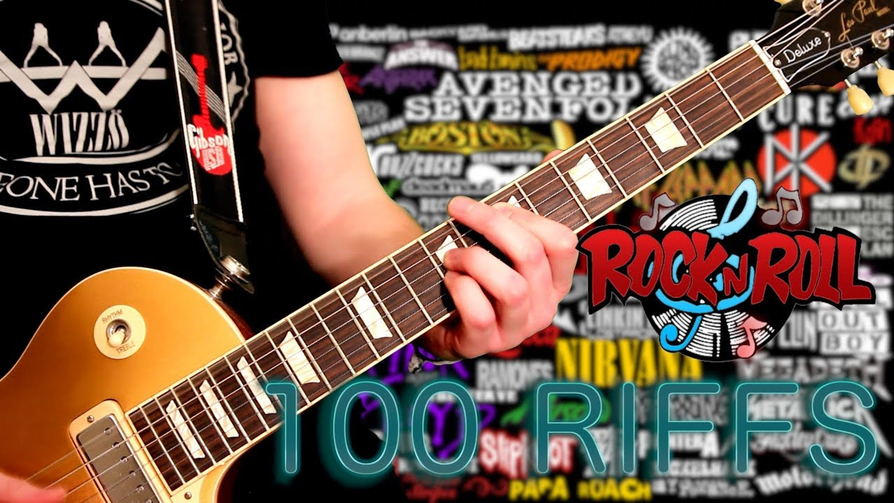 100 Riffs The Greatest Rock N Roll Guitar Riffs Youtube