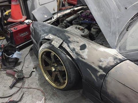 IT'S TIME!!! Custom DIY 240sx Wide Metal FENDERS! | Part 1