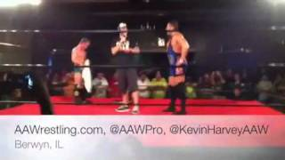 cm punk makes surprise appearance at indy fed aaw 07 23 11