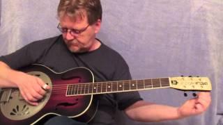 Gretsch Alligator Biscuit Bridge Resonator Review slide blues guitar