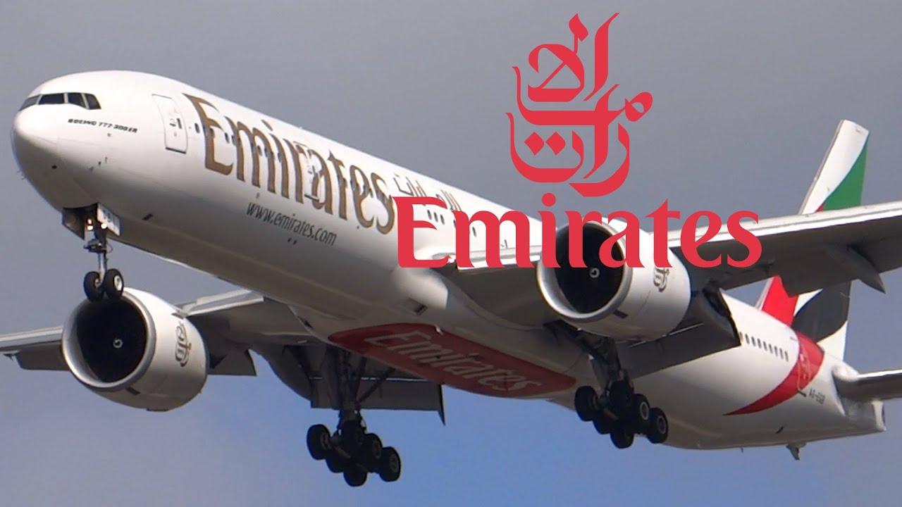 Download HD Emirates Boeing 777-31H/ER Landing at Chicago O'Hare International Airport