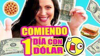 COMIENDO CON 1 DOLAR POR 1 DIA! RETO EXTREMO en CUBA - SandraCiresArt