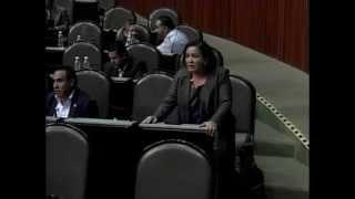 En tribuna, diputada Paty Lugo rechaza mina de Zacualpan