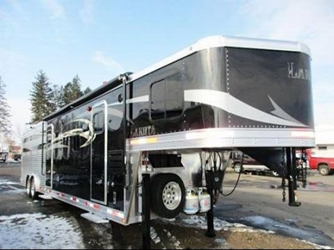 Popular Dream Coach Horse Car Hauler Combo 4 Horse Slant Load Bumperpull Car