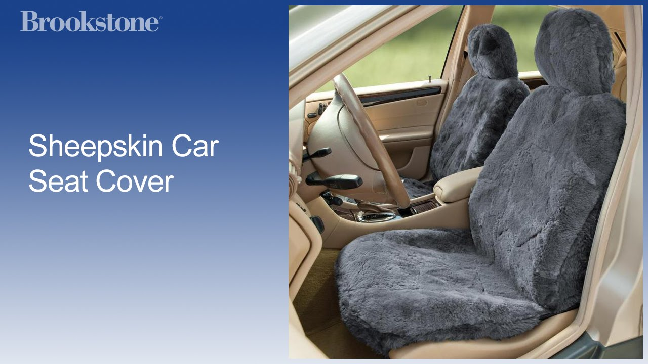 Sheepskin Car Seat Cover - YouTube