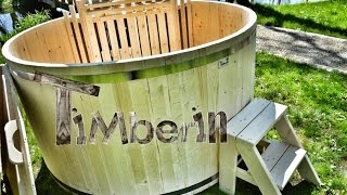 Wooden hot tub basic model made of Siberian spruce - TimberIN