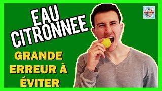 Eau au citron pour maigrir | Erreur que commettent des millions de gens tous les matins