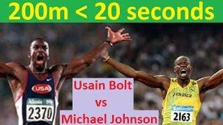 Usain Bolt vs Michael Johnson on 200m