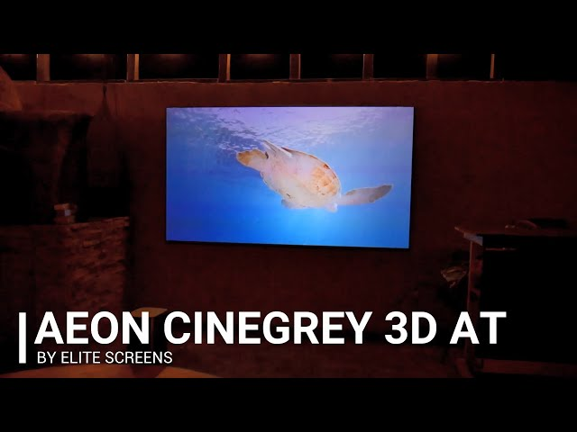 Elite Screens Aeon CineGrey 3D® Ambient Light Rejecting Acoustic Transparent Screen by JoelsterG4K
