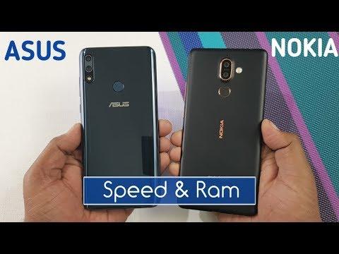 Asus Zenfone Max Pro M2 vs Nokia 7 Plus Speed Test & Ram Management Test