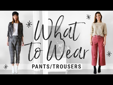 how to style FALL TROUSERS/PANTS!  WHAT TO WEAR on a denim d