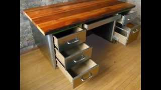 Reclaimed Wood Desk By Livingbeyondreality.com