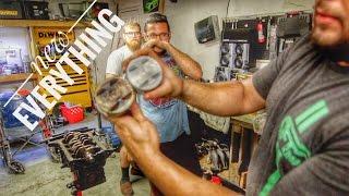 Building a turbo Miata engine in my garage.