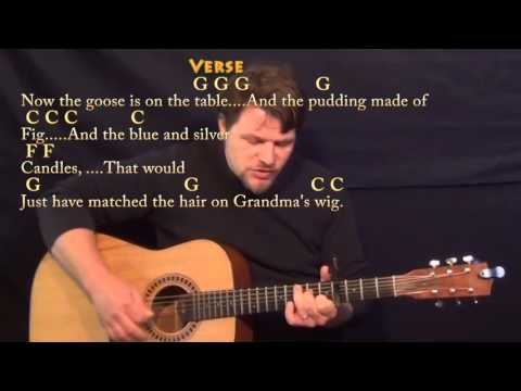 Grandma Got Run Over By a Reindeer - Strum Guitar Cover Lesson with Chords/Lyrics