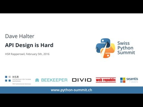Image from Dave Halter – API Design is Hard – SPS16