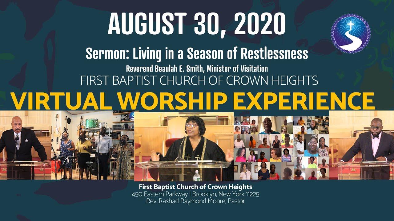 August 30, 2020: Sunday Morning Virtual Worship Service