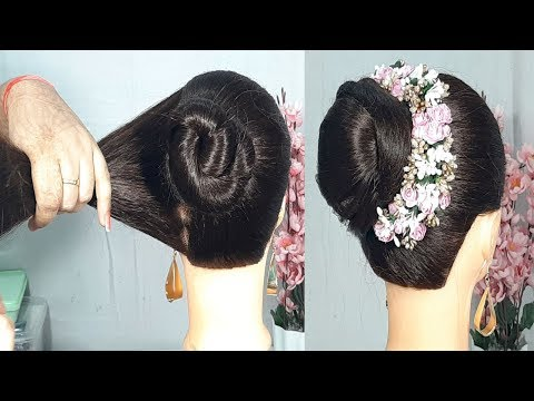 New simple Bun Juda Hairstyle with Trick | Beauitful hairstyles for Wedding/party | Easy Hairstyles thumbnail
