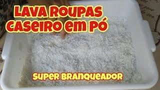 SABÃO EM PÓ CASEIRO ARRANCA SUJEIRA