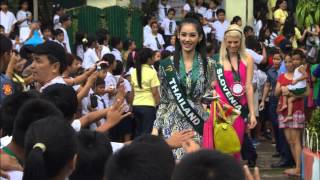 Ms Earth International 2012 Candidates visits Tanay, Rizal