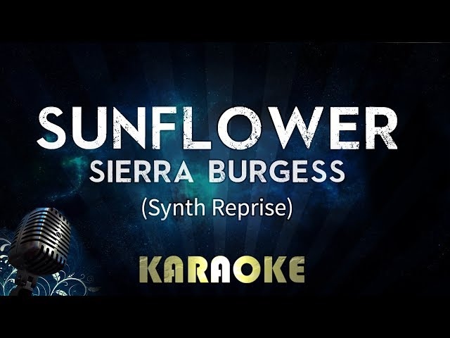 Sunflower - Sierra Burgess (Karaoke Instrumental)
