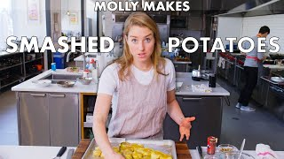 Download Molly Makes Crispy Smashed Potatoes   From the Test Kitchen   Bon Appétit Mp3 and Videos