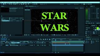 как сделать вступительные титры STAR WARS в Adobe After Effect