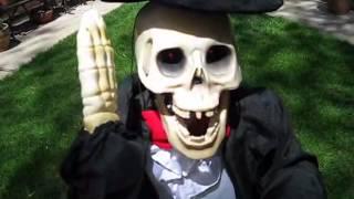 gemmy animated talking singing skeleton 3 1 2 feet tall