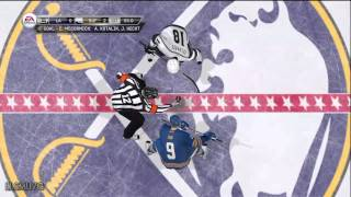 NHL 12 gameplay LA vs BUF