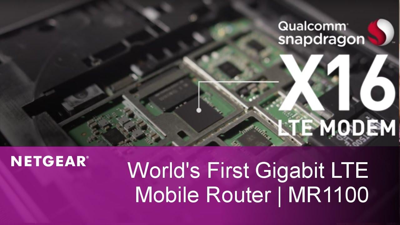 World's First Commercial Gigabit LTE Mobile Router MR1100 | NETGEAR