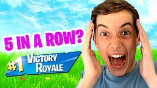 5 VICTORY ROYALES IN A ROW? (INSANE)