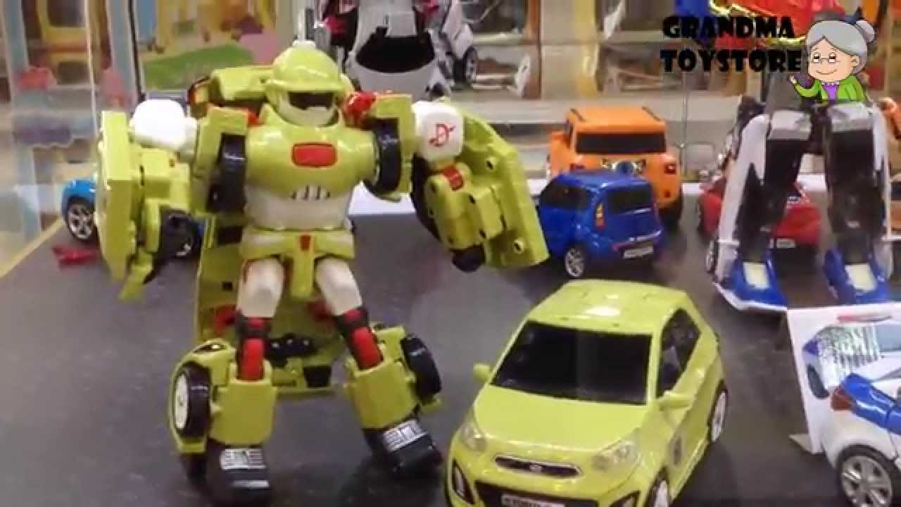 Unboxing Toys Review Demos Tombots Kia Toyota Transformer Cars