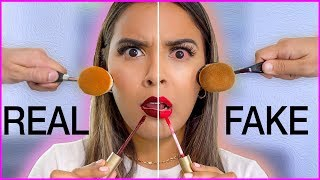 Beauty Busters: Poop or Woop? FULL FACE OF FAKE vs. REAL MAKEUP Natalies Outlet thumbnail