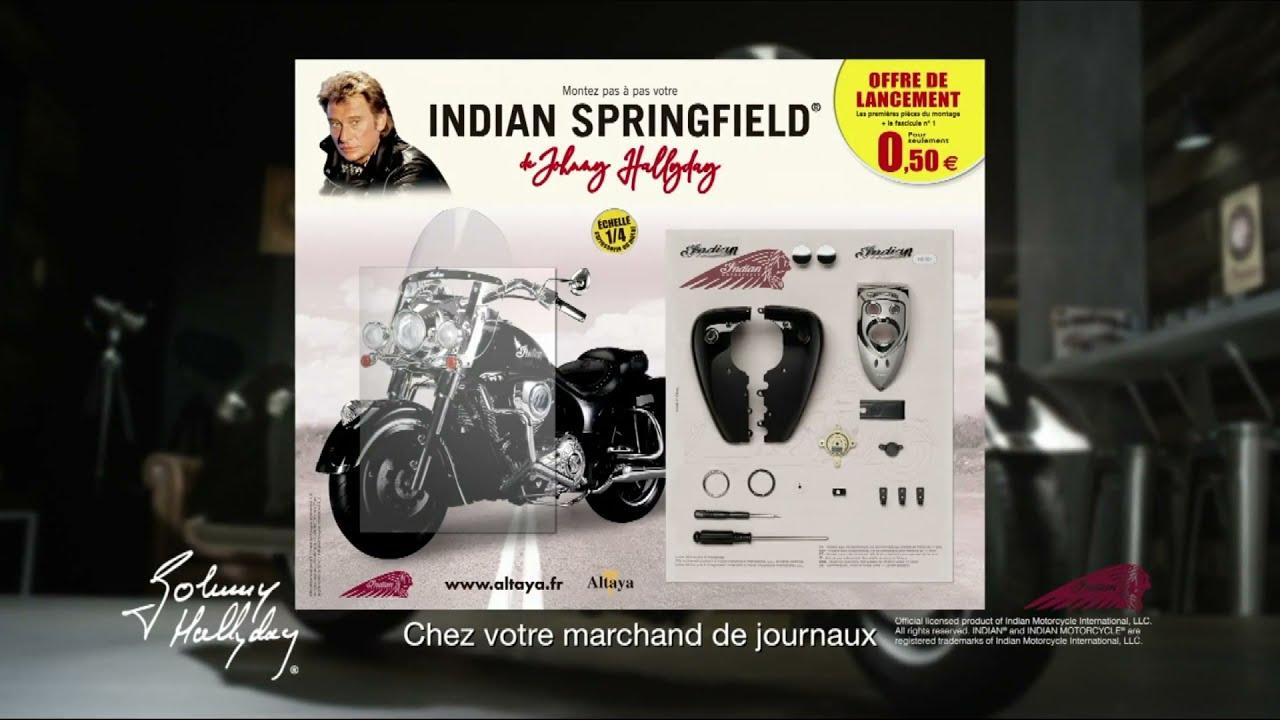 """Musique de la pub maquette Indian Springfield de Johnny Hallyday n°1 Altaya """"chez votre marchand de journaux"""" Pub 8s Juillet 2021"""