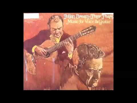 Julian Bream and Peter Pears - I will give my love an apple (Folk Song from Dorset)